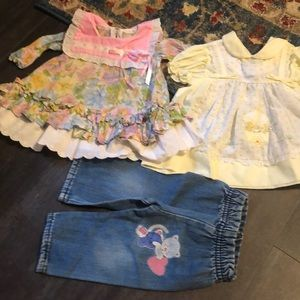12m 6-12 vintage dresses jeans kitty floral
